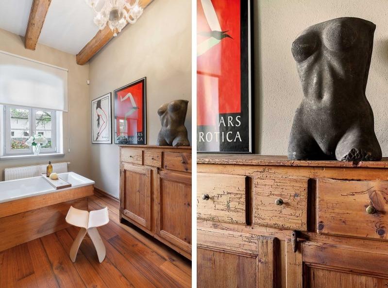 Fabrika de Case - Chiar si in baie se regasesc numeroase obiecte de arta