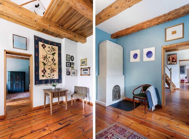 Fabrika de Case - Motivele traditionale si nuantele deschise de albastru se regasesc, deseori, in interiorul casei