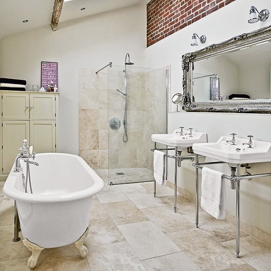 Accente shabby chic intr o casa din marea britanie for Bathroom tile trends 2016 uk