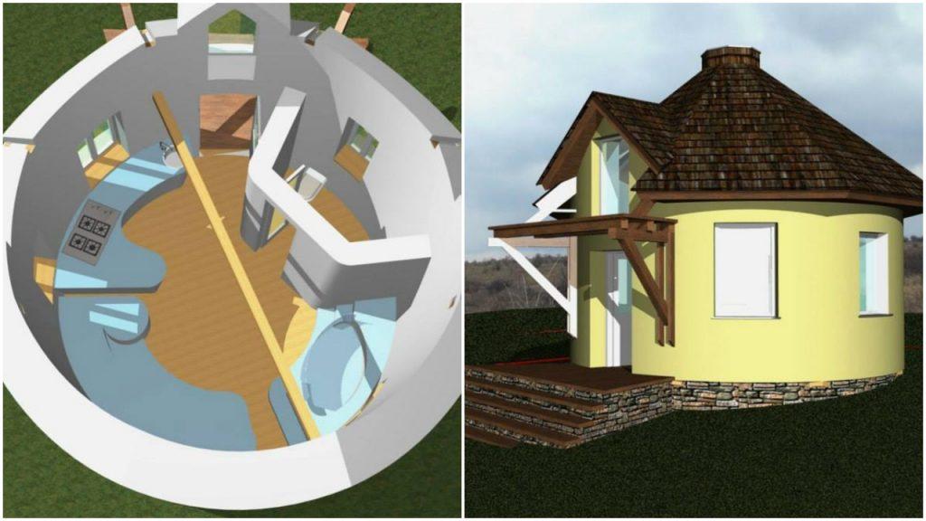 Fabrika de Case - Casa din baloti de paie la Paleu, Bihor