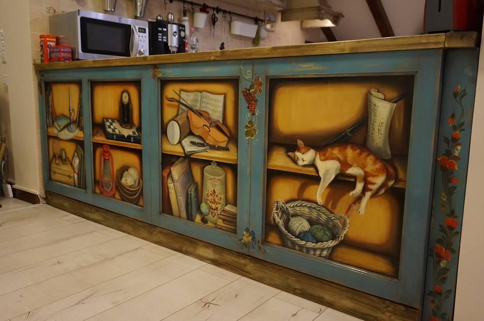 Fabrika de Case - Mobila pictata M'Art