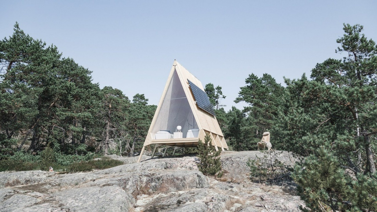 Cabana eco friendly proiectata de Robin Falck