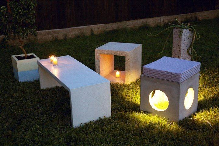 mobilier de gradina din ciment