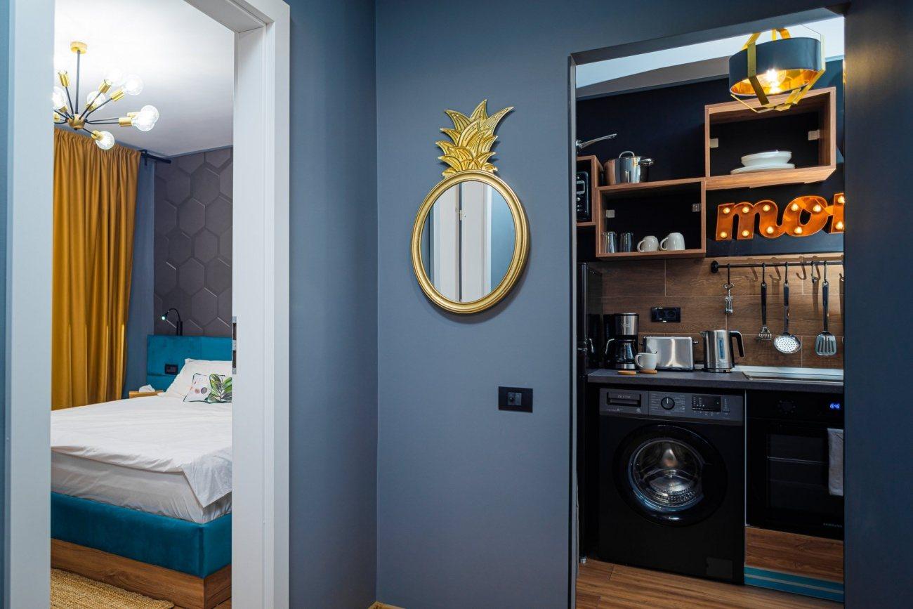 bucatarie si dormitor apartament