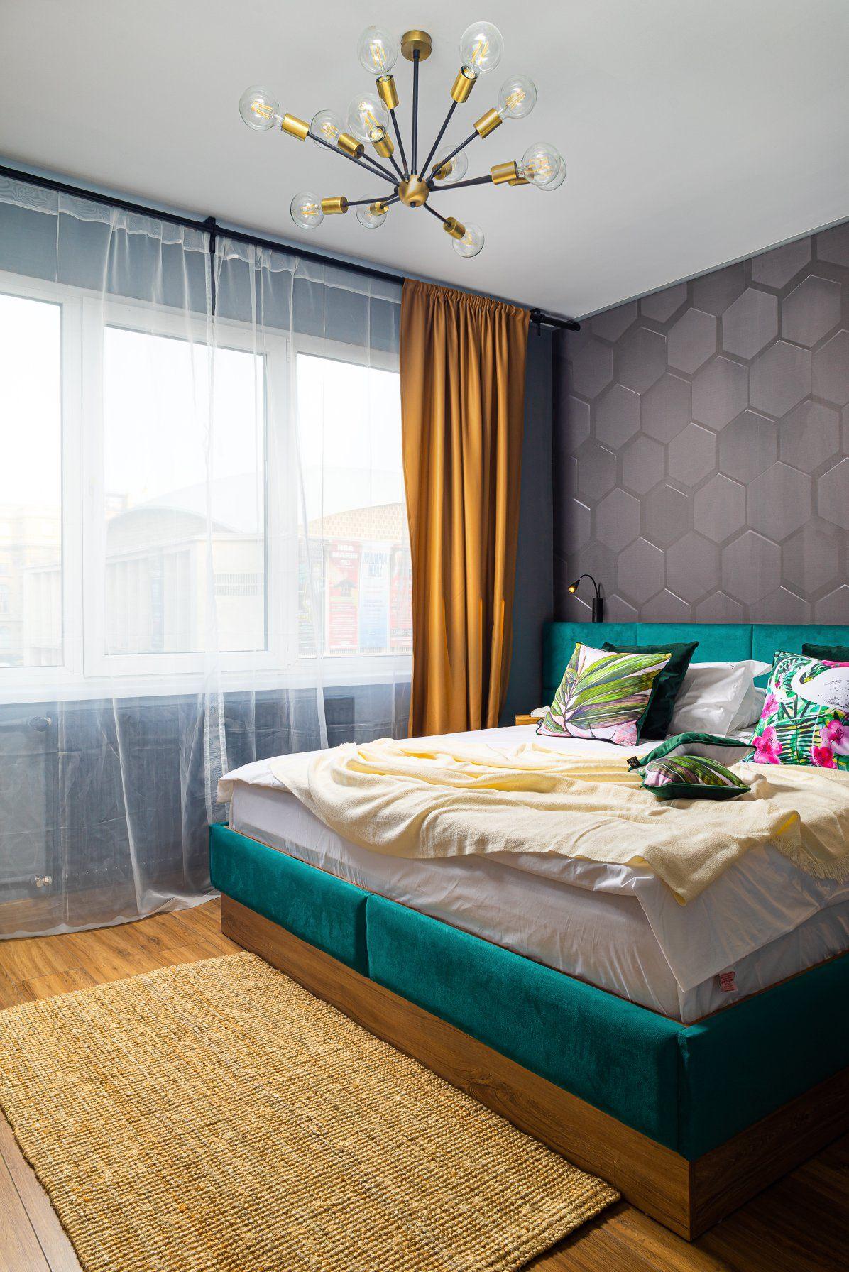 dormitor în stil industrial