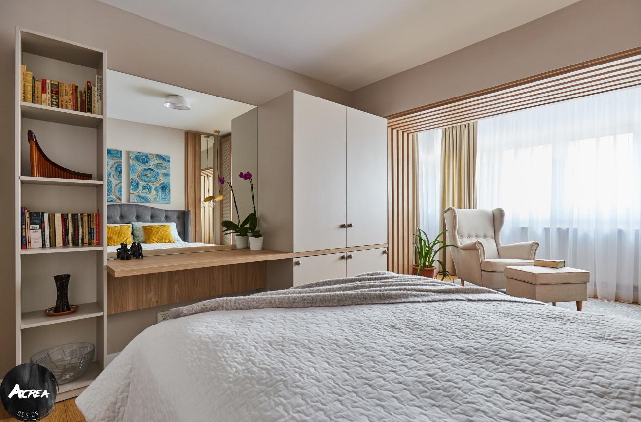 depozitare dormitor apartament modernizat în București