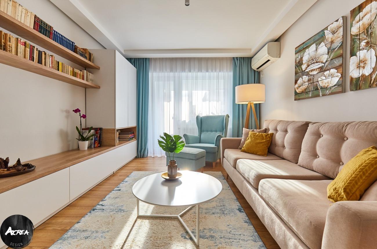 living apartament modernizat în București
