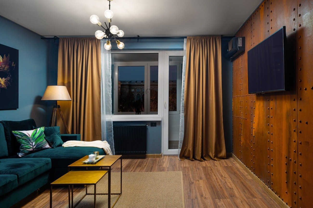 living apartament în stil industrial