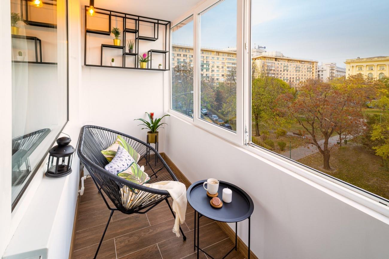 balcon apartament în stil industrial Bucuresti