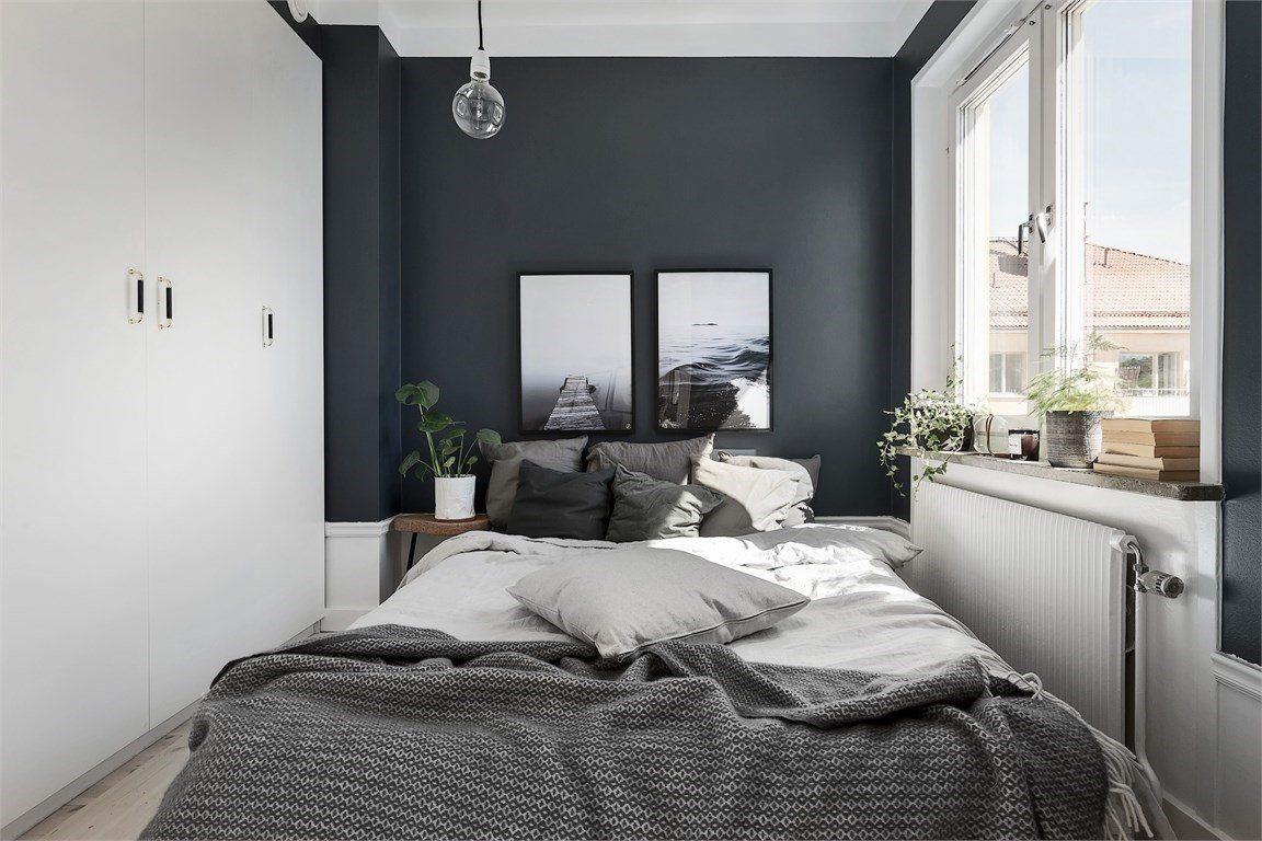 dormitor pereti gri, vopsea good home
