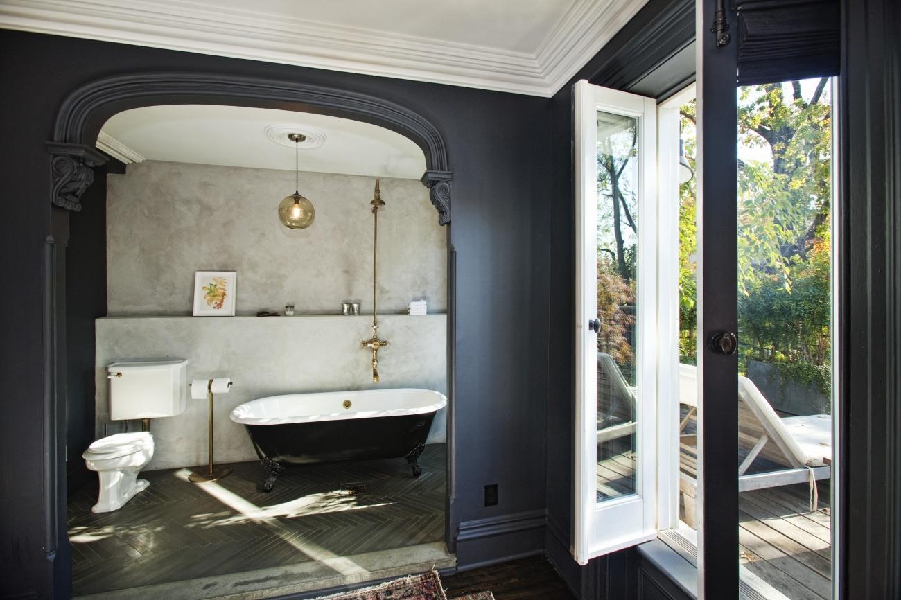 baie neagră în stil retro