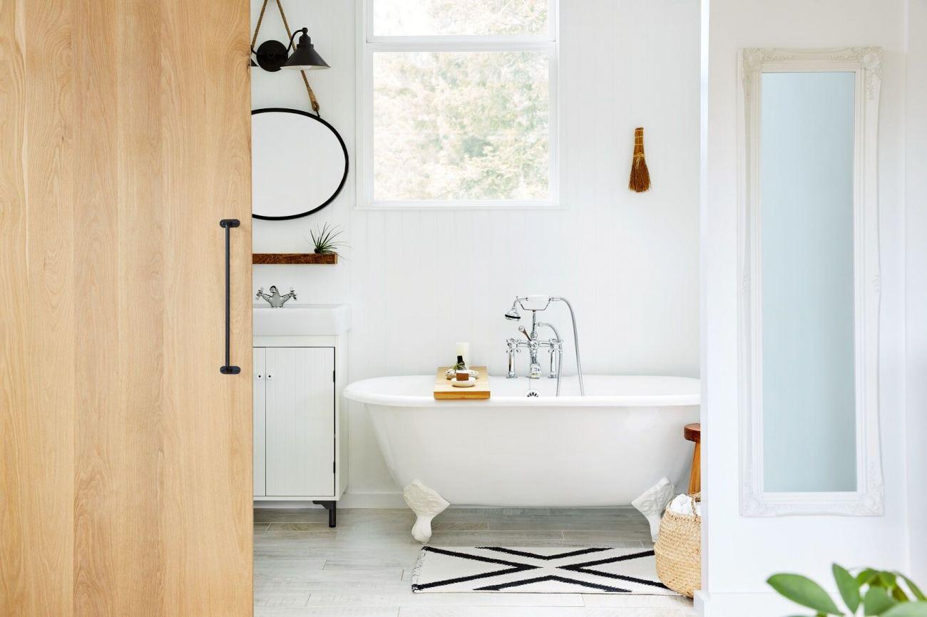 cadă clawfoot baie în stil retro