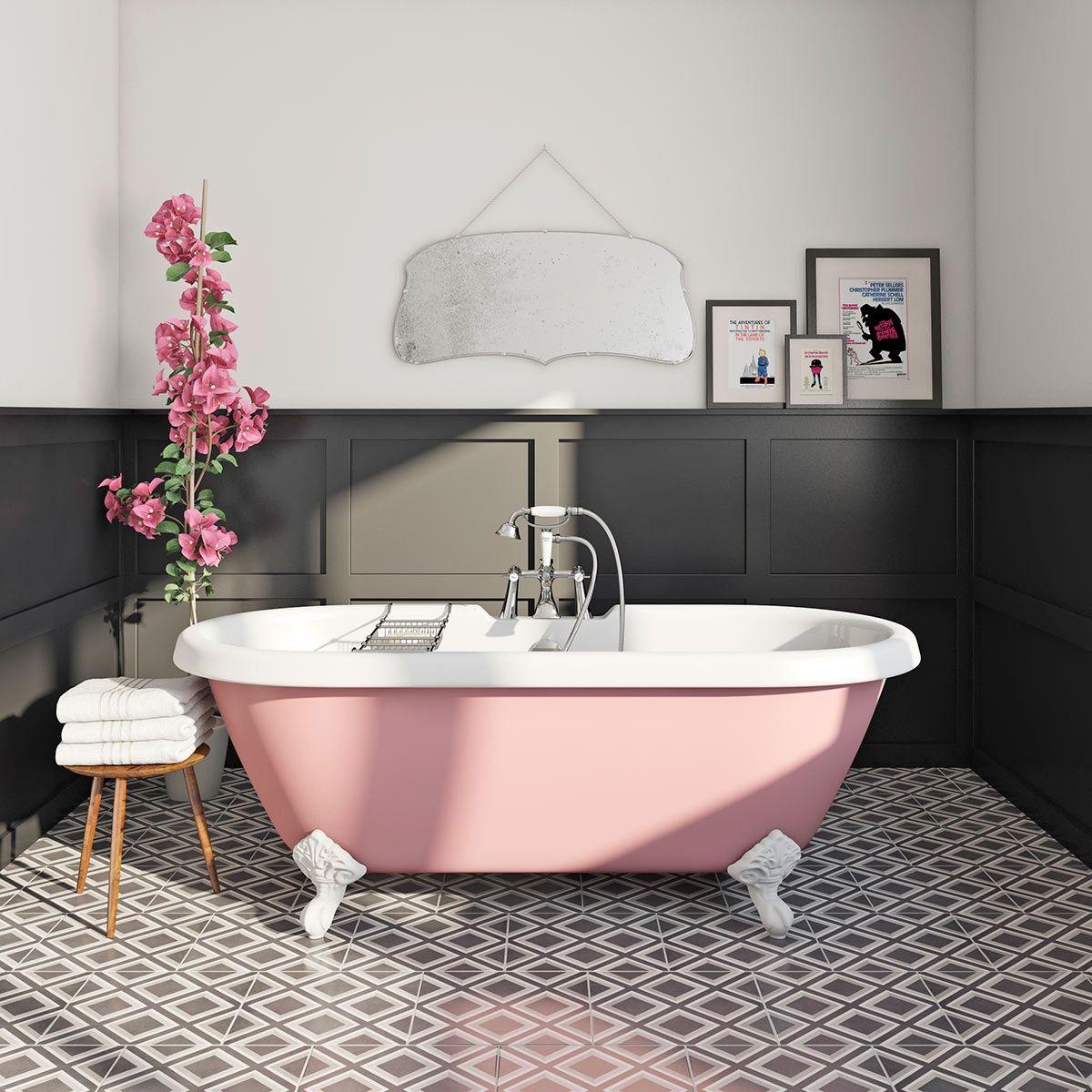 cada clawfoot baie în stil retro