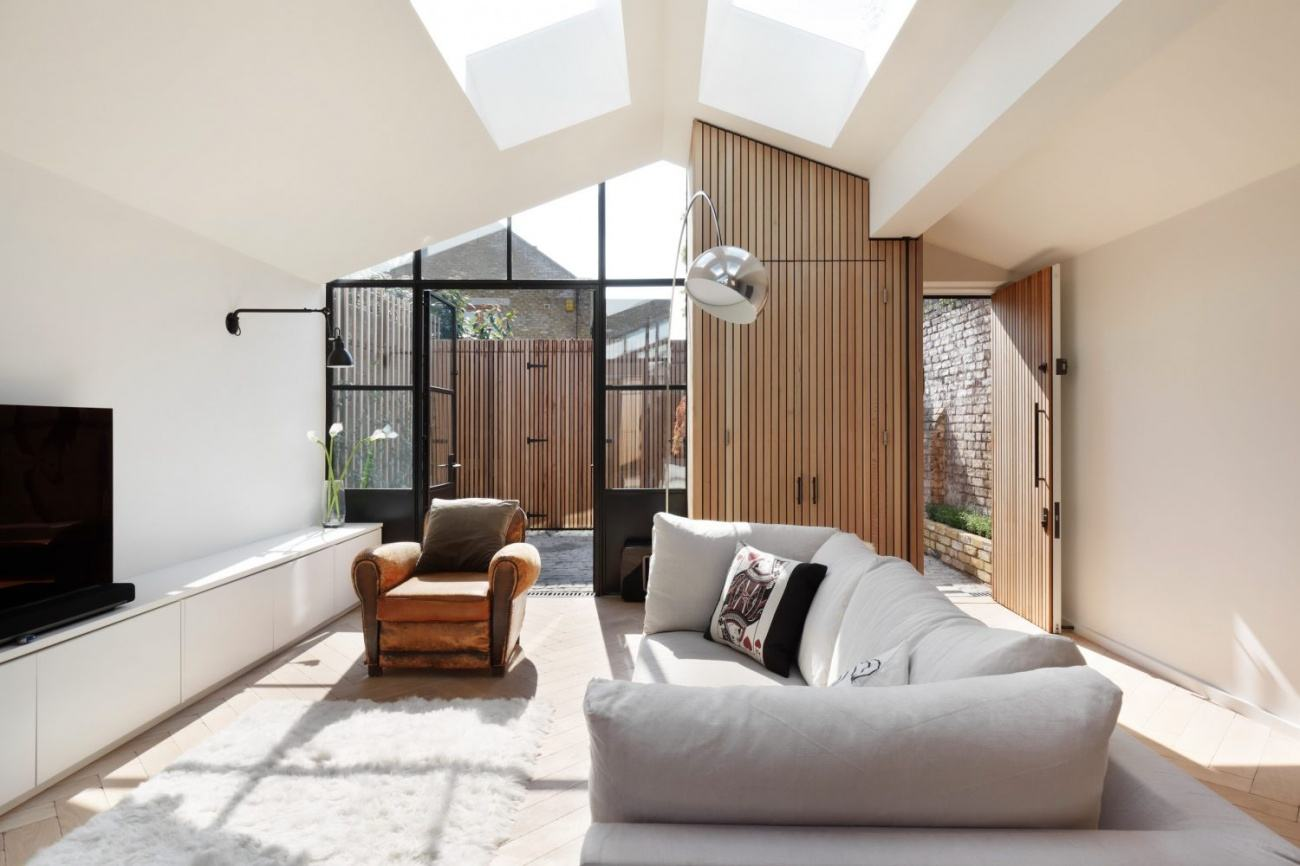 amenajarea casei, living minimalist